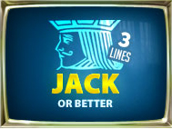 Jacks Or Better 3 Lines